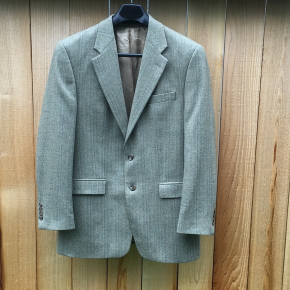 Lauren Ralph Lauren blazer herringbone tweed khaki